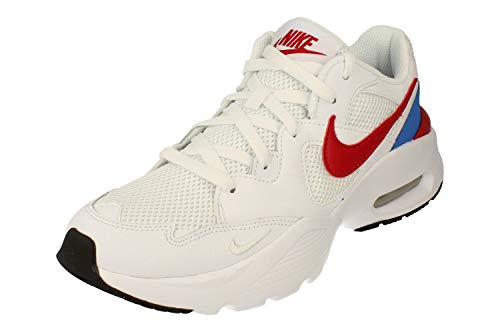 Nike Air MAX Fusion Hombre Running Trainers CJ1670 Sneakers Zapatos (UK 6 US 7 EU 40, White Gym Red Blue 100)