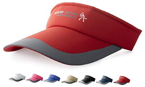 HYSENM HYSENM Visor Baumwolle Einheitsgröße Unisex Cap mit Klettverschluss Einstellbar Anti-UV für Reisen Radsport Tinnesspielen Kappe, Rot