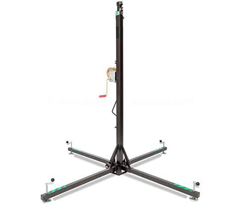 Traversen Lift für Messestände max. Höhe 500cm und max. Gewicht 125kg, HTL 125-M - Aufbauhilfe für Traversen Traversenlift Stativ für Straversen Kurbelstativ Stative für Truss Wind Up