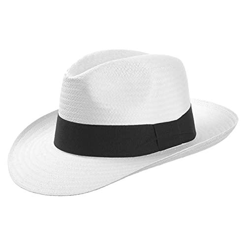 Sombreroshop Bogar- Sombrero de paja Palermo, 100% paja de papel, XL/60-61, blanco