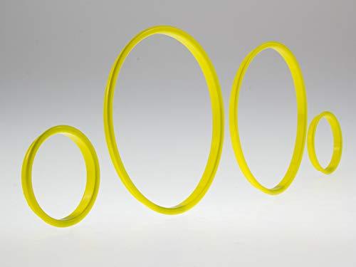 LETRONIX Gelbe Tachoringe Tacho Ringe zum Clipsen geeignet für Fahrzeug Astra G und Zafira A