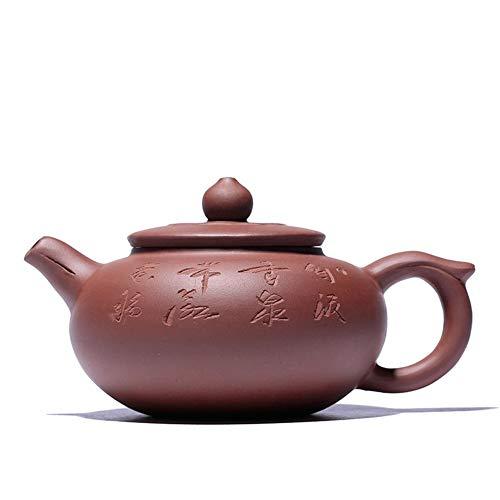 Teapot Ore Purple Clay Teapot Tea Desirous Lettering Handmade Gifts Tea Sets (Color : Purple mud)