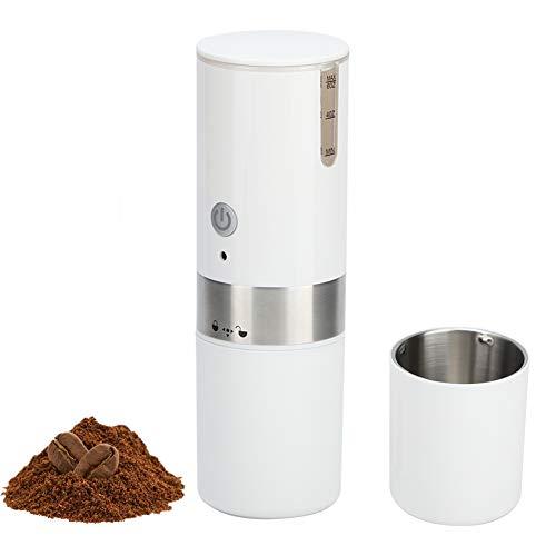 Mini cafetera, máquina de café espresso portátil completamente automática de acero inoxidable, máquina de cápsulas de café eléctrica con carga USB para viajes al aire libre, camping, deportes (blanco)