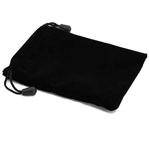 ZOUCY Black Bunch Mouth Bag, Black Lint Taschen Brettspiele Brille Drachen und Dungeons Würfel erhalten Tasche