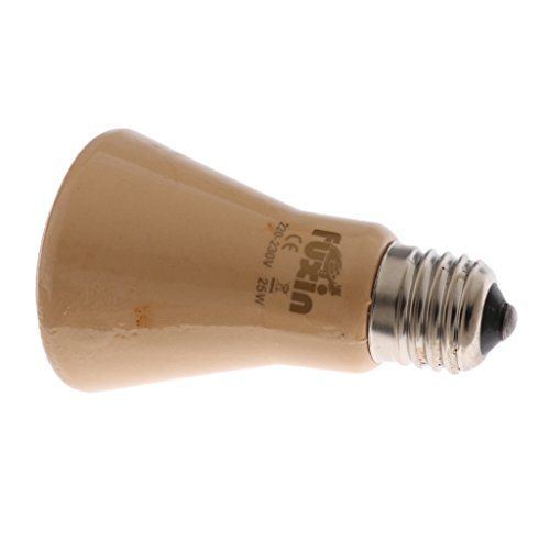 Homyl E27 Keramik Wärmelampe Infrarotlampe Wärmestrahler Wärme Glühbirne für Reptilien und Amphibien, wie Einsiedlerkrebse, Bartagamen, Schildkröten, Geckos, Eidechsen, Frösche, usw. - Beige, 25W