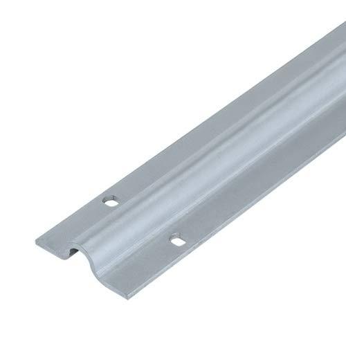 Carril atornillar para puertas correderas U 16 mm, 3 m, acero cincado