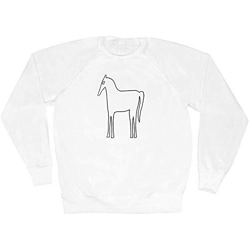 Azeeda Groß 'Westbury Pferd' Unisex Sweatshirt / Pullover (SW00027299)
