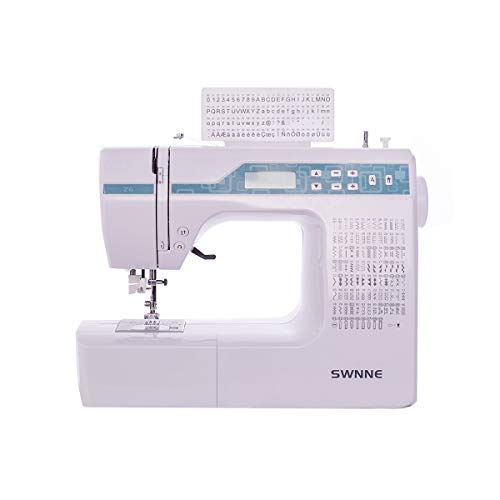 Sewing and Quilting Machine, Z6, 200 Built-in Stitches, 8 Styles of 1-Step Buttonhole Stitches, 2.0' LCD Display, Automatic Needle Threader, Computerized Sewing Machine Blue by Heureux