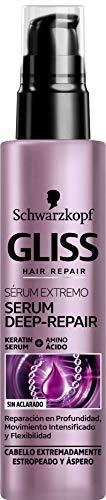 Schwarzkopf Gliss Deep Repair Sérum Extremo, reparación profunda, 3 x 100...