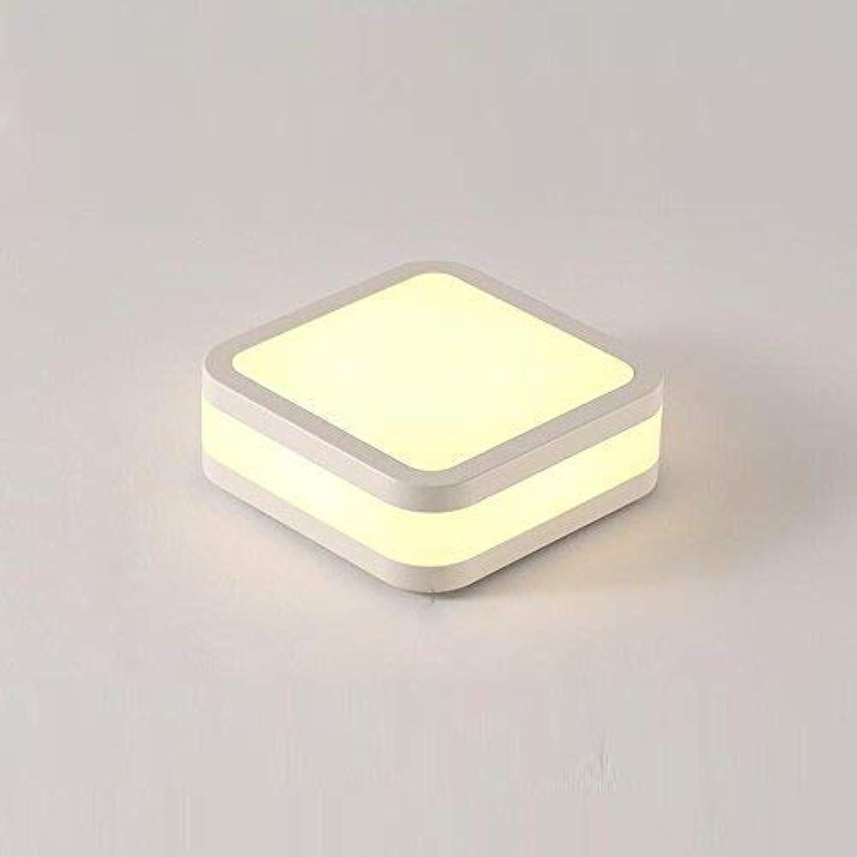 12W LED Deckenleuchte Minimalistische Personalisierte Deckenlampe Energiesparlampen Eisen Acryl Square Flurlampe Balkonlampe Treppenhauslampe L24cm  B24cm  H9cm, Weiszlig;