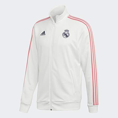Real Madrid Temporada 2020/21 Chaqueta con Cremallera Oficial, Unisex, Blanco, M