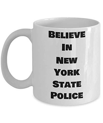 Tazza della polizia di stato Credi incredibile idea regalo divertente per ufficiale di corte Trooper Lawman Detective Ispettore Poliziotta Accademia Laurea Poliziotto Amico Compleanno Novità Caffè Tè