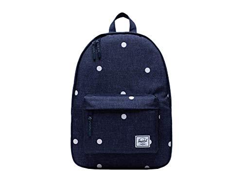 Herschel Classic Backpack, Polka Dot Crosshatch Peacoat, Mid-Volume 18.0L