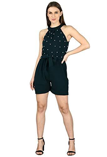 Anaghakart Women's Dark Green Mini Jumpsuit