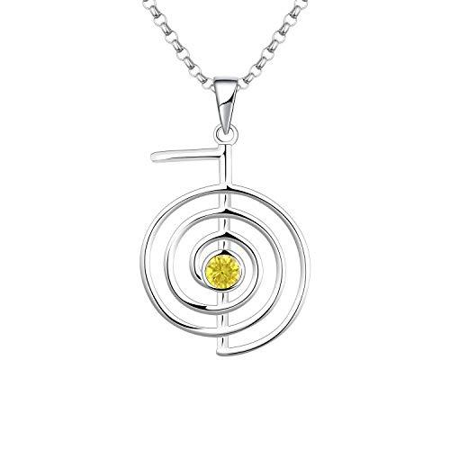 JO WISDOM Reiki Cho Ku Rei halsband, 925 sterling silver helande energi yoga kraft hänge halsband...