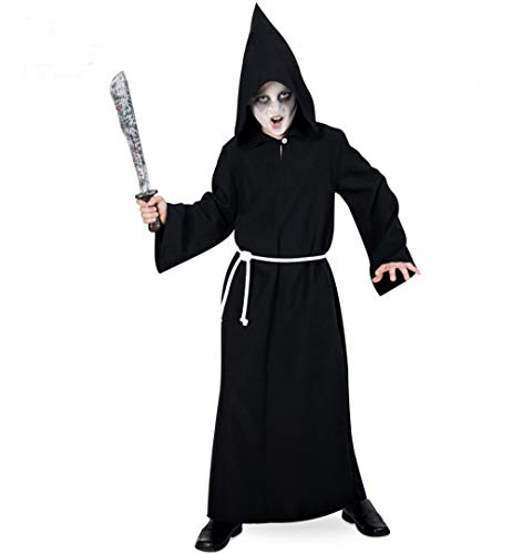 KarnevalsTeufel Kinder-Kostüm Henker, Kutte mit Kapuze und Kordel, Tod, Sensemann, Halloween