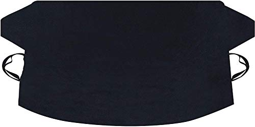 EcoNour Car Windshield Snow Cover for Ice, Snow and Wiper Protector| Windscreen Snow Cover for Car Fits Most Cars, Suv's, Vans and Truck| Essential Front Window Winter Accessories (XL)(74'x43')