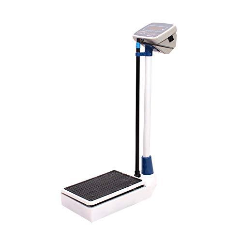 GMF Escala De Altura Y Peso Altura Y Peso 70~190cm, Bascula Medica con Tallimetro 2~150kg, Báscula De Peso De Alta Precisión con Varilla De Altura Ajustable