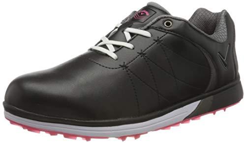 Callaway Damen Halo Pro Waterproof Spikeless Golfschuhe, Schwarz (Black Black), 40 EU