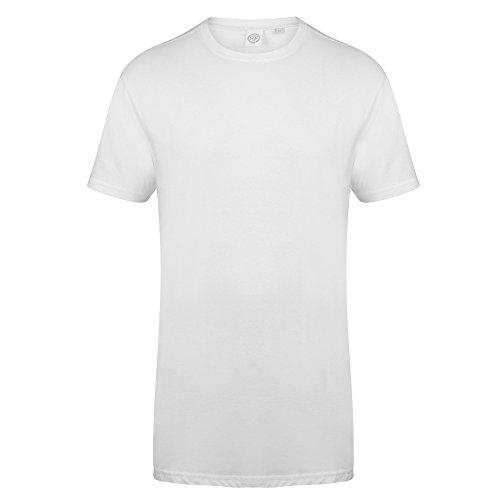Skinnifit Herren Longline T-Shirt (XL) (Weiß)