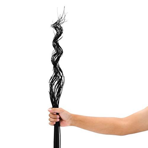 Leewadee Dekobündel für Bodenvasen Trockengesteck Dekogras Dekozweige, 120 cm, Palmblatt, schwarz