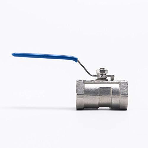 GYW-YW Válvula de Bola 1pc Femenina roscada SS304 Acero Inoxidable Reduce la válvula de Bola de Puerto BSP 1/2'a 1-1/2' (Specification : 1 Inch, Thread Type : BSP)