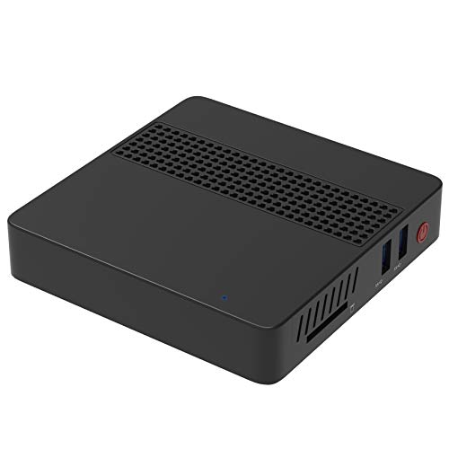 MINIS FORUM Mini PC Intel Celeron J3455 Processor (up to 2.3GHz), Desktop 8GB LPDDR4 / 64GB eMMC Windows 10 Pro HDMI & VGA Display Dual WiFi USB 3.0/BT 4.2 Support Linux,WOL,PXE Boot and Auto Power On