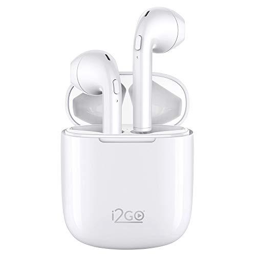 Fone de Ouvido Bluetooth sem fio TWS Air Sound Go 2 i2GO com Estojo de Carregamento - i2GO Pro Plus, Branco, comprimento (cm) 6, largura (cm)3, altura (cm) 5