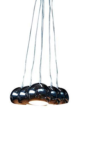 anTes interieur Hängeleuchte 6 Balls chrom mehrflammig (Pendelleuchte Hängelampe Deckenlampe Pendellampe Deckenleuchte)