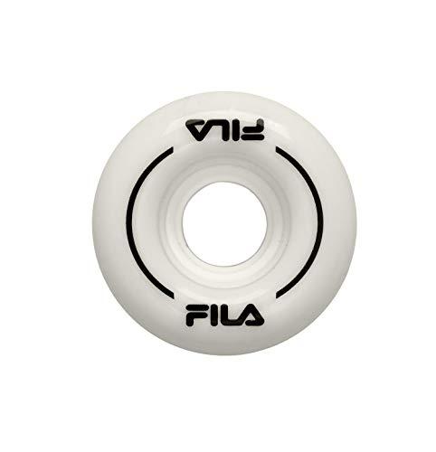 FILA Skates Roller Wheels Unisex Kinder Rollschuhe, Unisex Kinder, 60751020, weiß/schwarz, 58mm