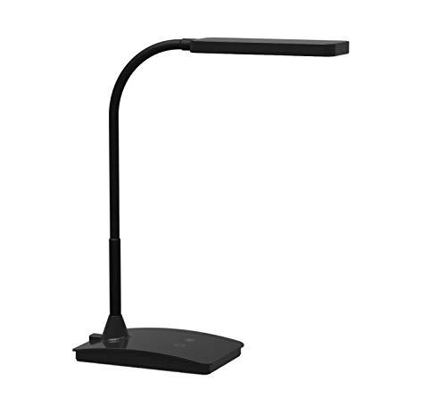 LED Tischleuchte MAULpearly colour vario, dimmbar, 24 integrierte LEDs, 36 cm hoch, flexibler Arm, mit Standfuß, schwarz, 8201790