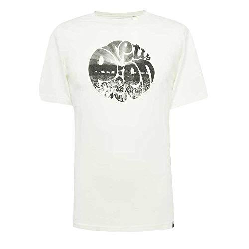 Pretty Green Crowd Printed Logo T-Shirt - White-S