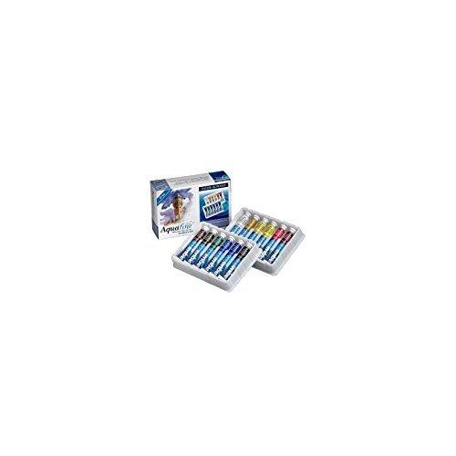 Daler-Rowney Aquafine Set de 12 tubes de peinture pour débutant 8 ml