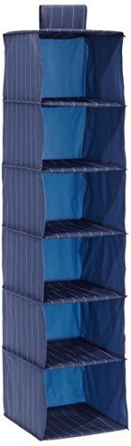 WENKO 4374100100 wasgoed-sorteerder Comfort - 6 vakken, kunststof - PEVA, 30 x 122 x 30 cm, blauw