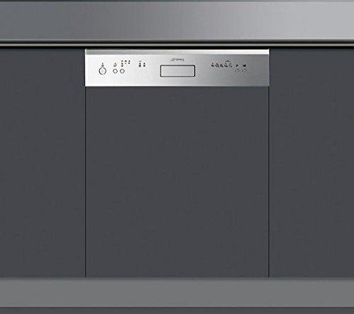 Smeg PLA6448X2 Semi intégré 12places A+ lave-vaisselle - Lave-vaisselles (Semi intégré, Acier inoxydable, boutons, 12 places, 48 dB, A)