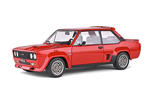 Solido 421187200 Fiat 131 Abarth 1980 - Maqueta de Coche (Escala 1:18), Color Rojo