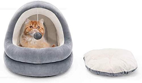 Katzenbett für Katzen in Innenräumen Therapeutisches rundes Kuschelnest Snuggery...
