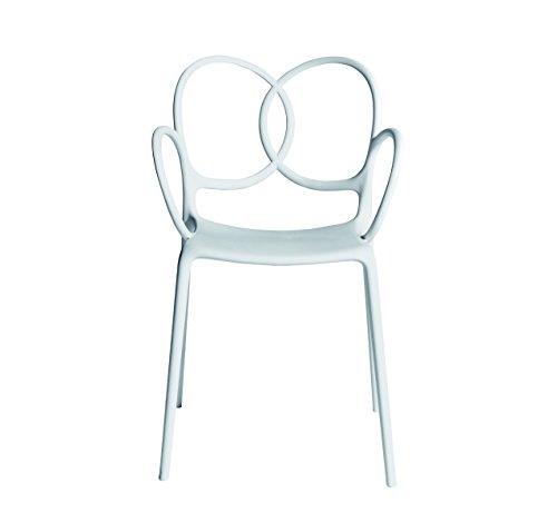 Sissi Driade - Sedia con braccioli, colore: Bianco