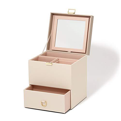 Francfrancフランフランメイクボックスバイカラーコスメボックスメイクボックス鏡付きメイクボックス大容量コスメ収納化粧品収納ボックス化粧ボックスベージュ