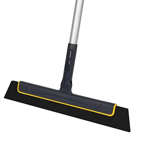 Yocada - Tergicristalli per pavimenti, 51 in scopa, perfetto per doccia, bagno, cucina, casa, piastrelle, pelo di animali, pavimenti, marmo e vetri, schiuma ad acqua, manico rimovibile