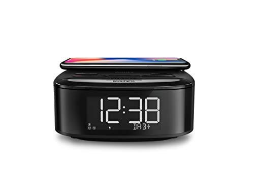 Philips R7705/10 Radiodespertador Radio Dab+/FM (Bluetooth, Alarma Dual, Temporizador, Sincronización Automática de la Hora, Batería de Reserva, Cargador de Teléfono Inalámbrico) Modelo 2020/2021