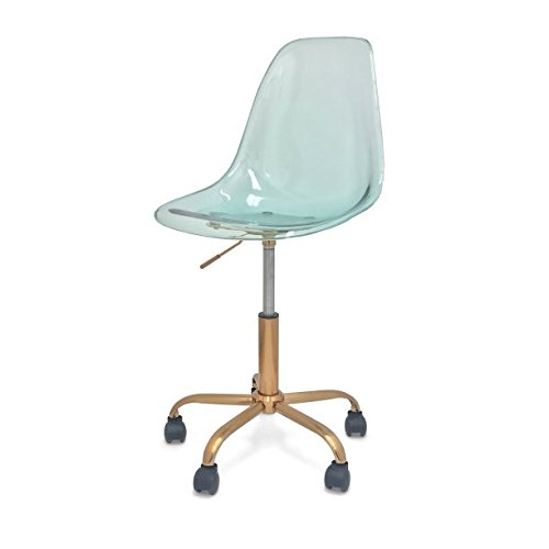 Mainstays Acrylic Rolling Desk/Task Chair (Yucca)
