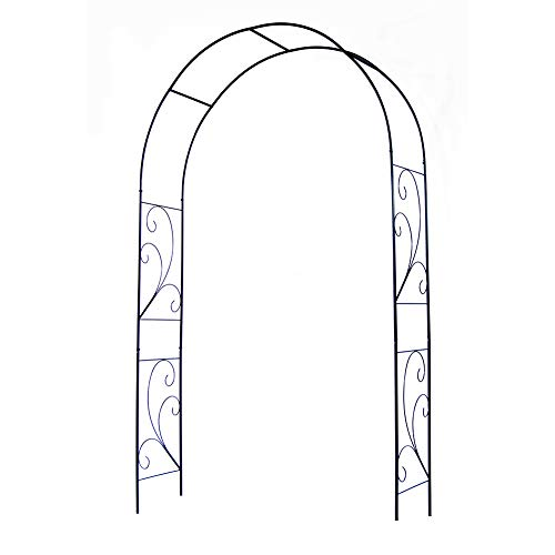 LILL Metal Garden Arch Freely Thickened Steel Pipe,Perfect Garden Decoration,Wedding Arch Party Ceremony Decoration Climbing Plant Support Trellis Arch.