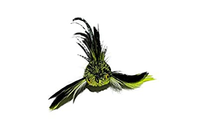 "Litterboy Bird Series Cat Toys ""Green Devil"" Bird Attachment/refill - Fits Popular Wand / Rod Toys"