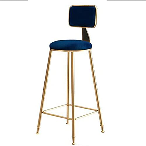 CHLDDHC Modern Metal Bar Stools, Counter Stools For Kitchen, Bar, Pub And Restaurant, Upholstered Velvet