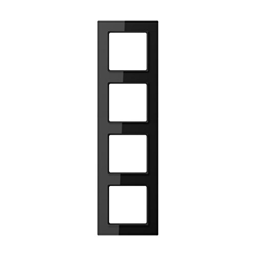 Jung AC 584 GL SW Rahmen Glas 4fach Serie A Creation schwarz