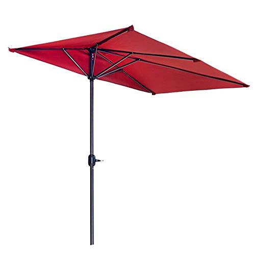 WWWRL Garten Halber Sonnenschirm Draussen Wand Regenschirm, Quadrat- | 2.3x1.2X Höhe 2.2m | Terrasse/Balkon/Schirm Terrasse - ohne Basis - Faltbar