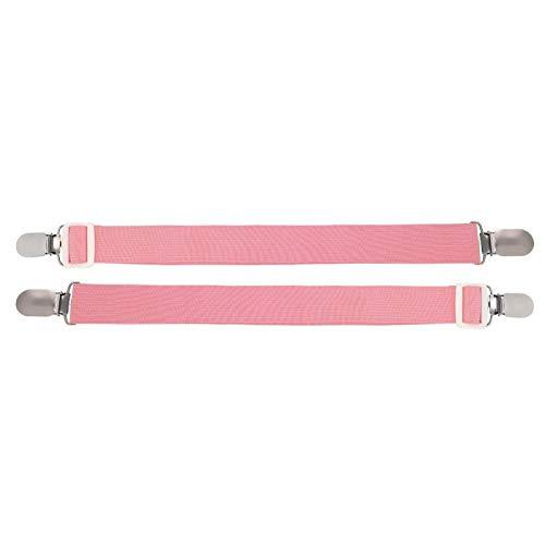 Wosune Sujetador de sábana, Pinza de sábana de Alta Elasticidad con Correa elástica, Multiusos para Acampar en casa(Pink)