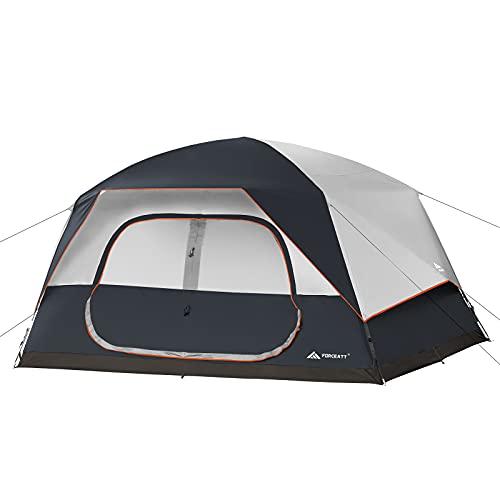Forceatt Tente 6 Personnes en 3-4 Saisons,Tente de Camping avec Housse de Pluie Amovible,La Toile de Tente Dôme Ventilée est Idéale pour Les Activités de Plein Air en Famille et Les Fêtes d'amis.