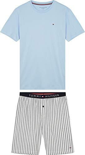 Tommy Hilfiger Cn SS Short Woven Set Check Pijama, Negro, X-